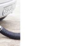 Exhaust hose reels