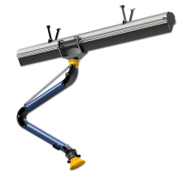 Sliding suction rail