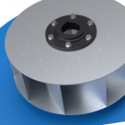 Dynamically balanced aluminium impeller