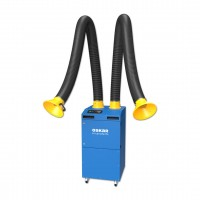 Boxair M2003 with two H1620P fume extraction arms