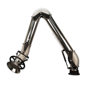 Oskar 100 - stainless fume extraction arm PUR hose option - standing version