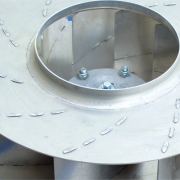 aluminium backward inclined blade radial impellers