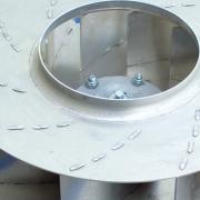 aluminium backward inclined blade radial impellers