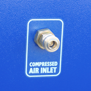 built-in compressed air cartridge cleaning system